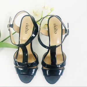 Rialto Block Heel Patent Leather Shoes